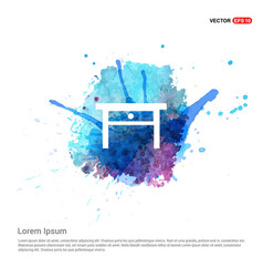 Table icon - watercolor background vector