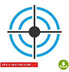Target Eps Icon vector