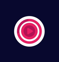 Video stream watch online icon vector