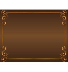 vintage frame on a brown background vector image