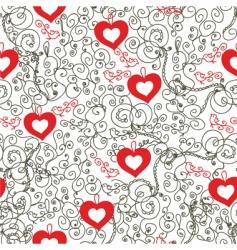 Vintage hearts vector