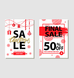 winter final sale posters set vector image