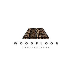 Wood floor logo design templatecreative sy vector