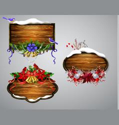 Wooden christmas board vector