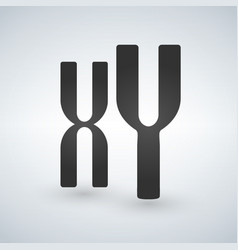 Xy man and woman chromosomes icon style is flat vector
