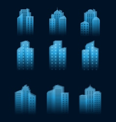 a set of houses icons vector image vector image