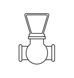 Monochrome silhouette of stopcock icon vector