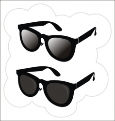 sunglasses in the classical style vector image vector image