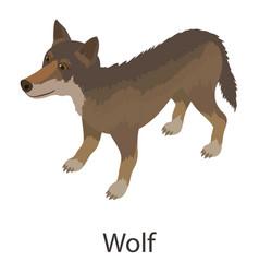 wolf icon isometric style vector image