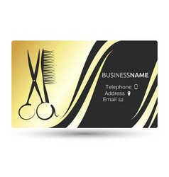 business card for beauty salon and hairdresser vector image