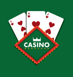 casino club playing cards green background vector image