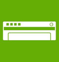 conditioner icon green vector image