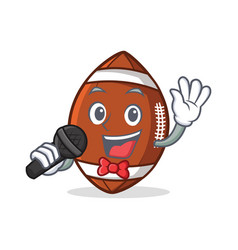 karaoke american football character cartoon vector image vector image