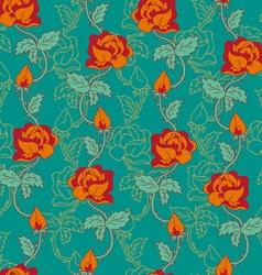 rose pattern orange vector image vector image