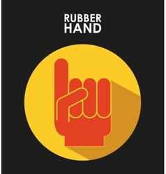 rubber hand vector image