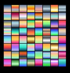set multicolored gradients vector image