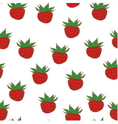 berries strawberry seamless pattern vector image