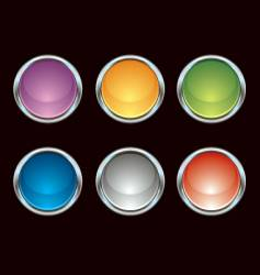 chrome colorful internet icons vector image vector image