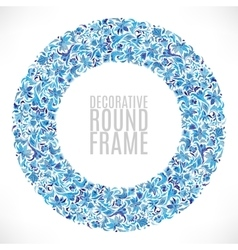 Colorful Floral wreath Background vector image