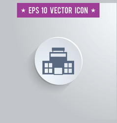 office building symbol icon on gray background vector image