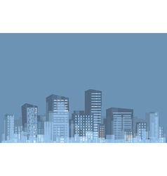 panorama of city vector image