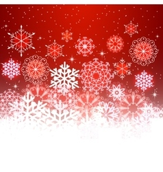 Red Christmas background with space for text vector image