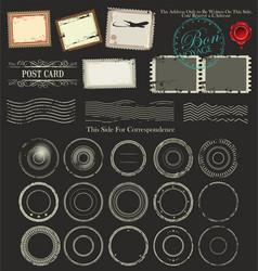 Set of post stamp symbols vector image vector image