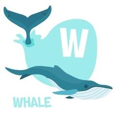 Funny cartoon animals alphabet letter set vector image vector image