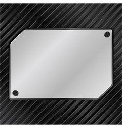 metal board vector image