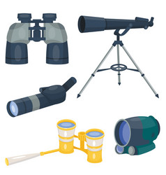 professional camera lens binoculars glass look-see vector image vector image