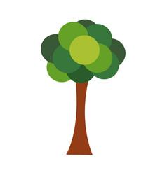 Tree bush cartoon spring or summer forest elements vector