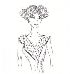 woman retro vector image