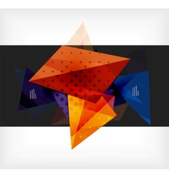 Abstract composition 3d geometric shapes vector image