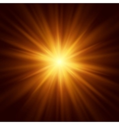 Abstract image of lighting flare vector image
