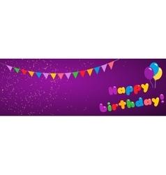 Background happy birthday vector