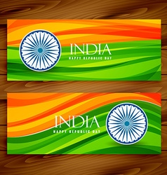 banners indian flags vector image