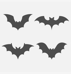 Bats set isolated vector