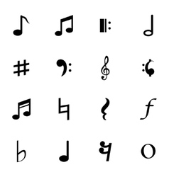 Black Notes Icons Set vector image