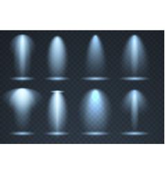 blue scene illumination transparent effects vector image