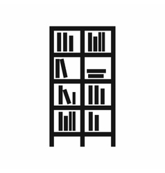 Bookcase icon simple style vector image