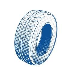 Car tire rubber wheel vector