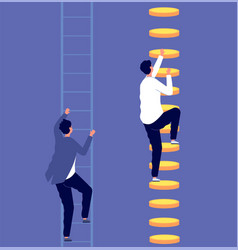 Career inequality social gap employee vector