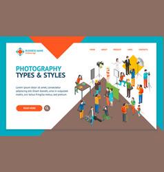 cartoon characters professional photographers vector image