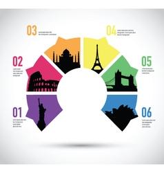 colourful landmark model vector image