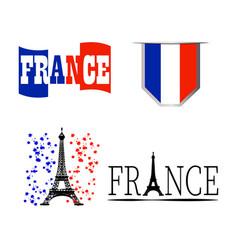Commemorative france symbol vector