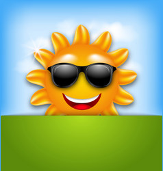 Cool Happy Summer Sun in Sunglasses vector