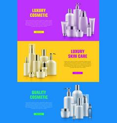 Cosmetic bottle mockup ads vector