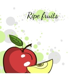 Cover Juicy Apple vector