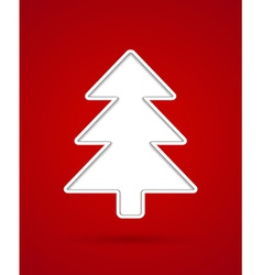 Cut out christmas tree vector image