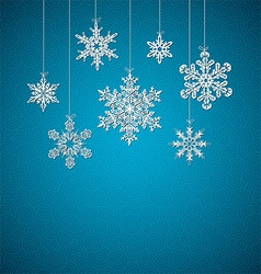 Decorative Snowflakes Background vector image